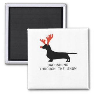 Dachshund through the Snow Magnet
