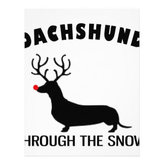 dachshund through the snow personalized letterhead