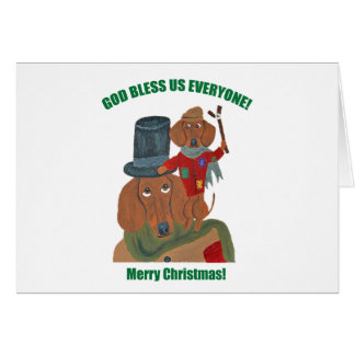 Dachshund Tiny Tim Greeting Card