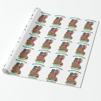 Dachshund Tiny Tim Wrapping Paper