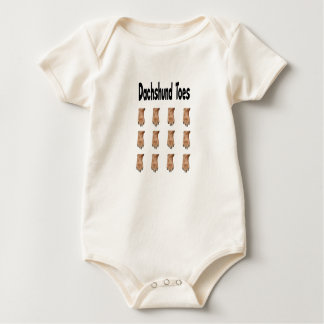 Dachshund Toes Baby  one piece Baby Creeper