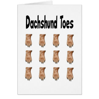 Dachshund Toes Greeting Card