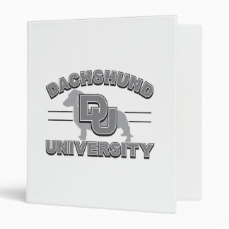 Dachshund University 3 Ring Binder