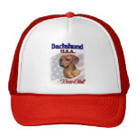 Dachshund USA Patriotic Mesh Hats