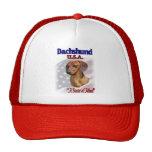 Dachshund USA Patriotic Trucker Hat