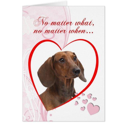 Dachshund Valentine Card