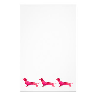 Dachshund - Watercolor Design Stationery