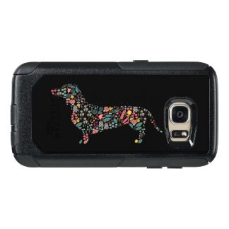 Dachshund Wiener Dog Floral Pattern Watercolor Art OtterBox Samsung Galaxy S7 Case