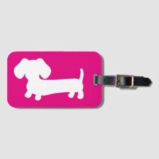 Dachshund Wiener Dog Travel Luggage Tag Label