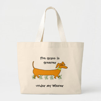 Dachshund Wiener Jumbo Tote Bag