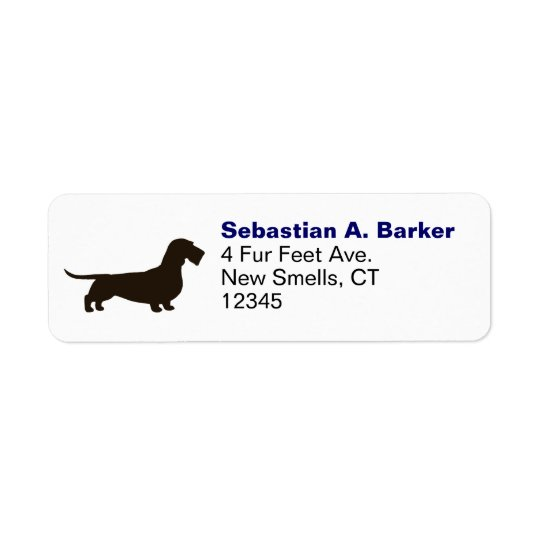 Dachshund (Wire Hair) Return Address Label
