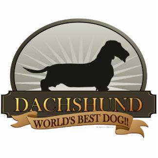 Dachshund [Wire-haired] Standing Photo Sculpture