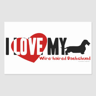 Dachshund [Wire-haired] Rectangle Stickers