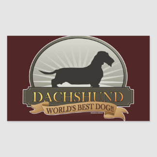 Dachshund [Wire-haired] Rectangular Sticker