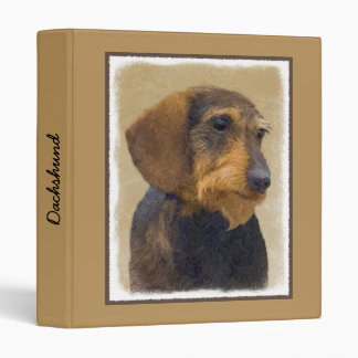 Dachshund (Wirehaired) 3 Ring Binders