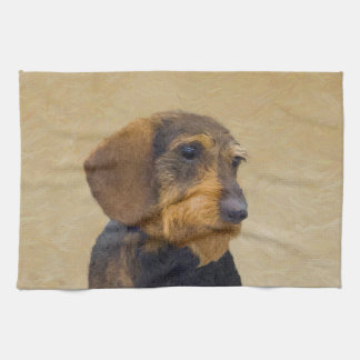 Dachshund (Wirehaired) Kitchen Towel