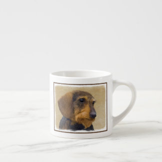 Dachshund (Wirehaired) Painting Original Dog Art Espresso Cup