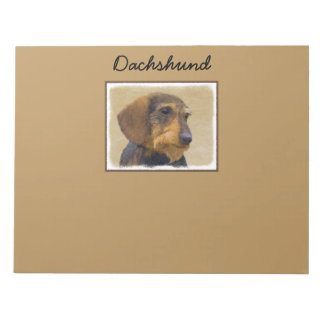 Dachshund (Wirehaired) Painting Original Dog Art Notepad