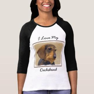 Dachshund (Wirehaired) Painting Original Dog Art T-Shirt