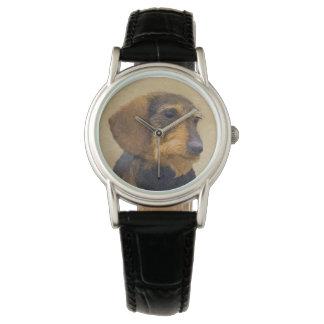 Dachshund (Wirehaired) Painting Original Dog Art Watch