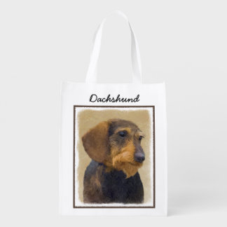 Dachshund (Wirehaired) Reusable Grocery Bag