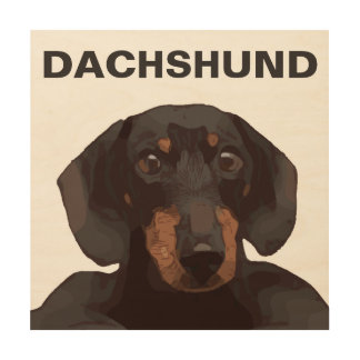 DACHSHUND WOOD WALL ART