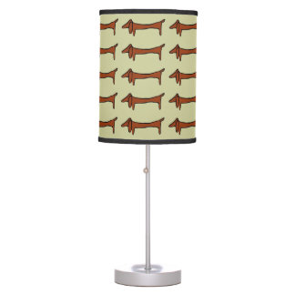 Dachshunds, abstracts in line, table lamp