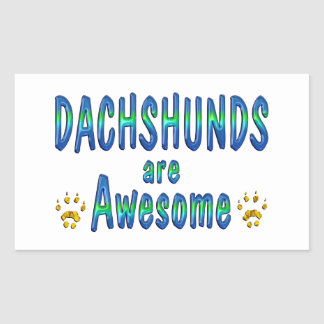 Dachshunds are Awesome Rectangle Sticker