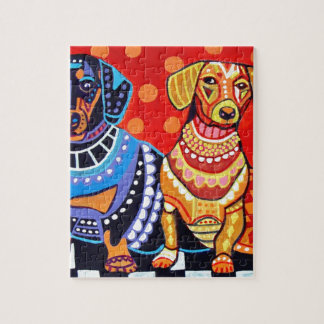 Dachshunds by Heather Galler Jigsaw Puzzle