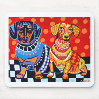 Dachshunds by Heather Galler Mouse Pad