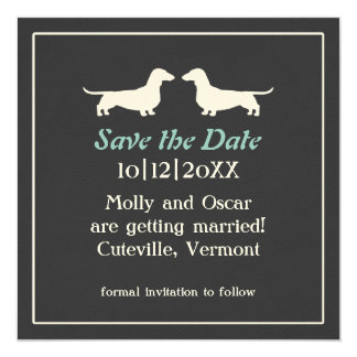 Dachshunds Custom Wedding Save the Date Invitation