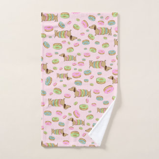 Dachshunds + Donuts Dish Towel + Doxie Hand Towel