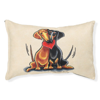 Dachshunds Have Heart Small Dog Bed