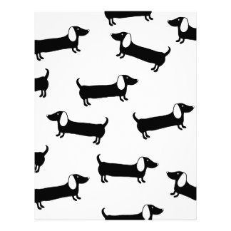 Dachshunds in black and white letterhead
