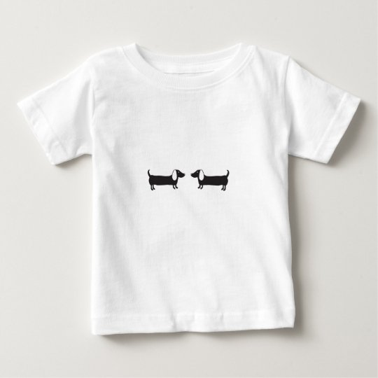 Dachshunds in black and white love baby T-Shirt