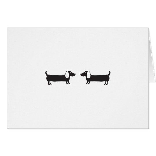 Dachshunds in black and white love card