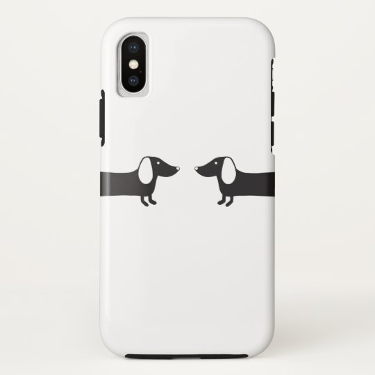 Dachshunds in black and white love HTC vivid / raider 4G case