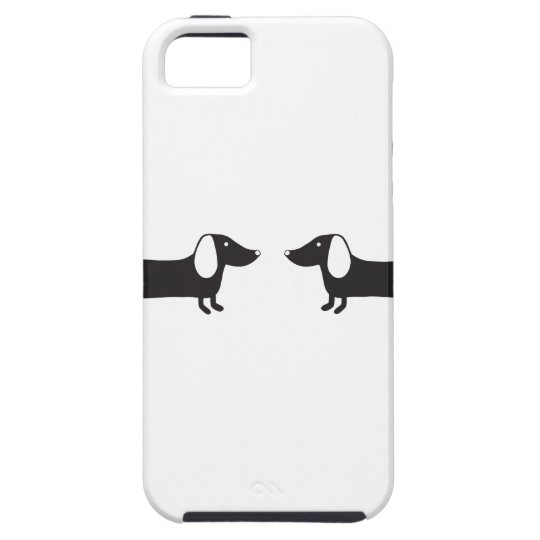 Dachshunds in black and white love iPhone 5 cover