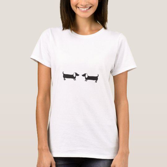 Dachshunds in black and white love T-Shirt