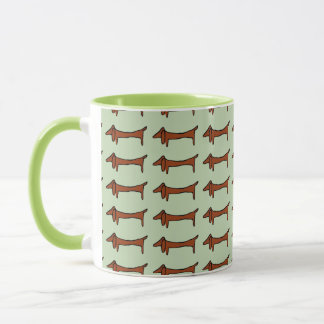 Dachshunds in Line Mug