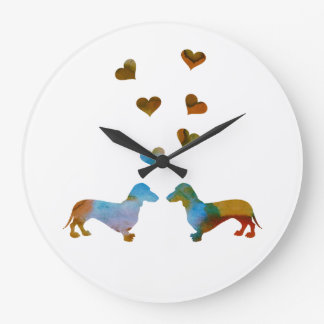 Dachshunds Large Clock