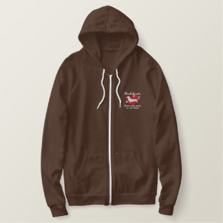 Dachshunds Leave Paw Prints Embroidered Hoodie