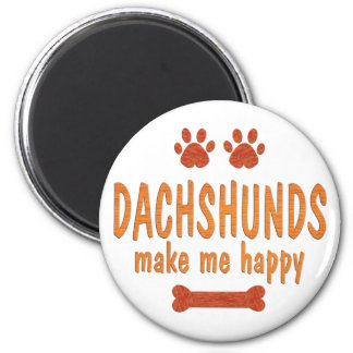 Dachshunds Make Me Happy Magnet