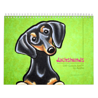 Dachshunds Off-Leash Art™ Vol 1 Calendar