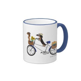 Dachshunds on Bicycle Mug by Sudachan