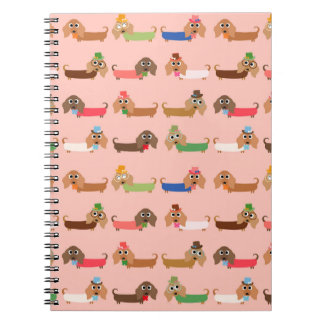 Dachshunds on Pink Notebook