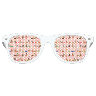 Dachshunds on Pink Retro Sunglasses
