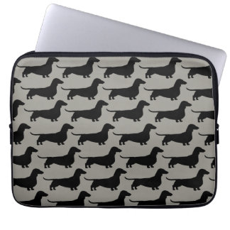 Dachshunds Pattern (Short Haired Wiener Dogs) Laptop Sleeve