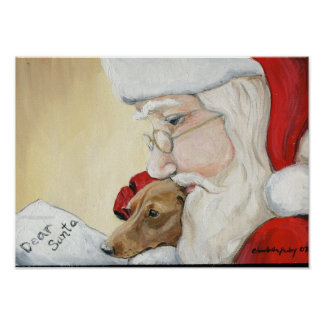 Dachshund's Request for Santa Print