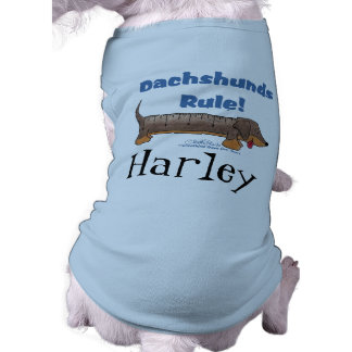 Dachshunds Rule Doggie Tshirt